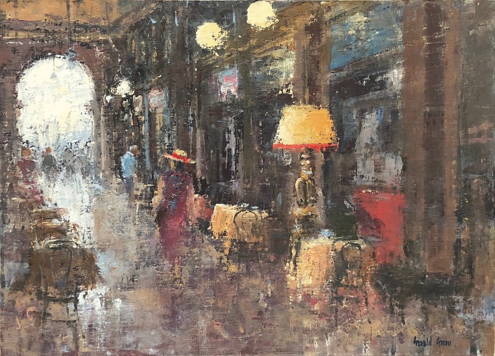 Cafe Florian Venice: 13 x 18 in: SOLD