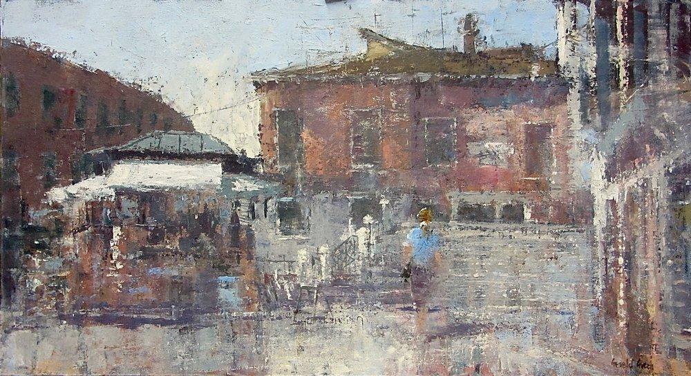 Campo San Pantalon Venice: oil: 13 x 24 in