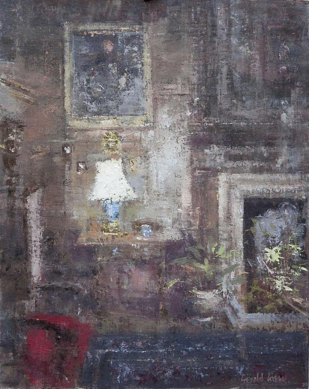 The Blue Table Lamp: 20 x 16 in: £1750   (currently at The Priory Gallery Broadway)