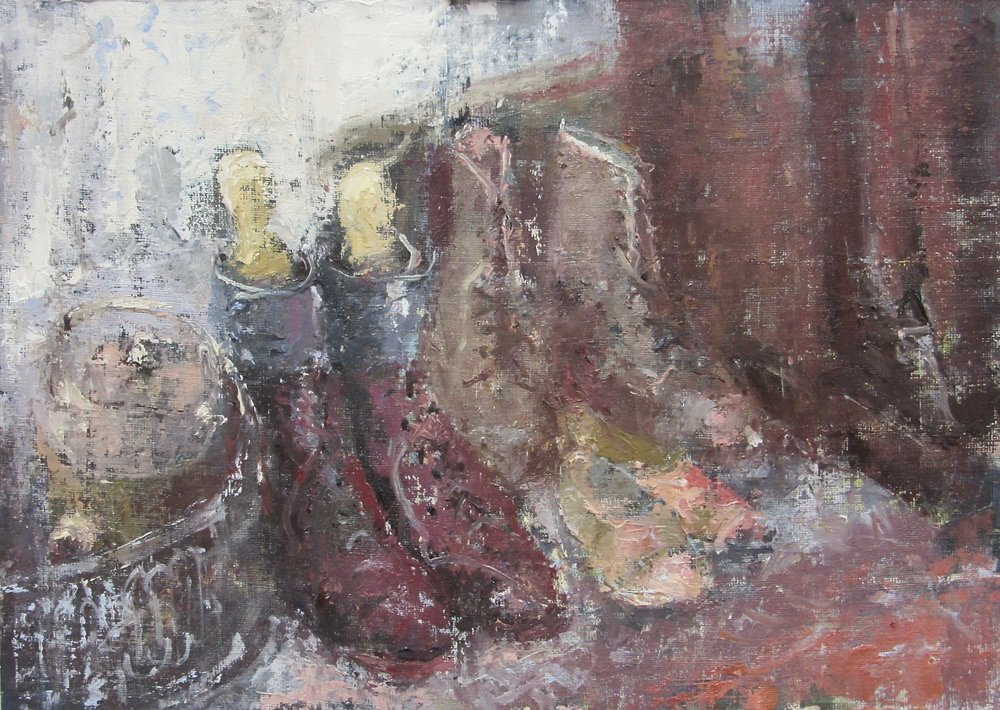 Boots and Shoes: 10 x 14 in: £750    (currently at The Wykeham Gallery Stockbridge)