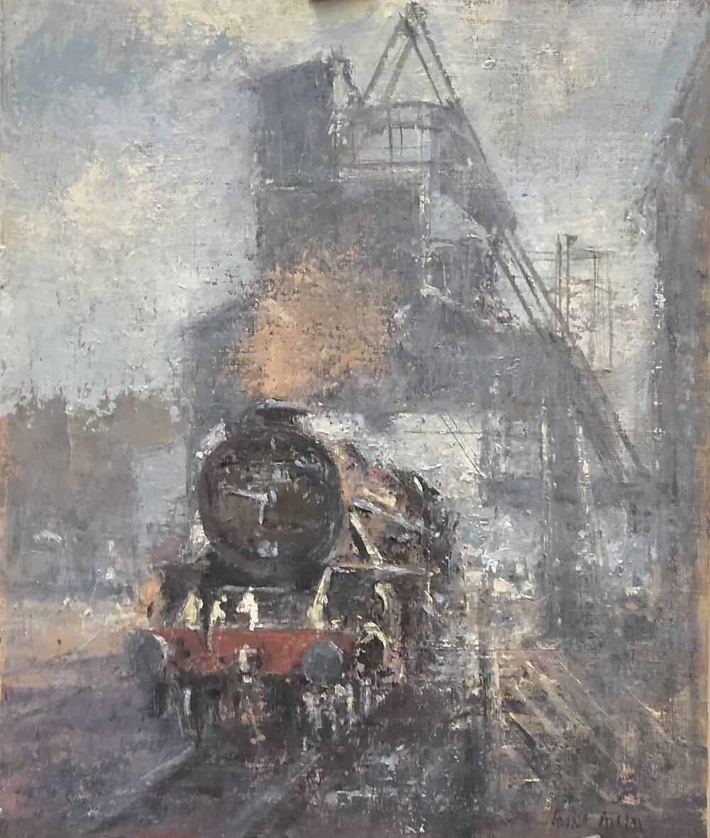 Refilling the Tender on the NYMR: oil: 16.5 x 11.75 in: £900