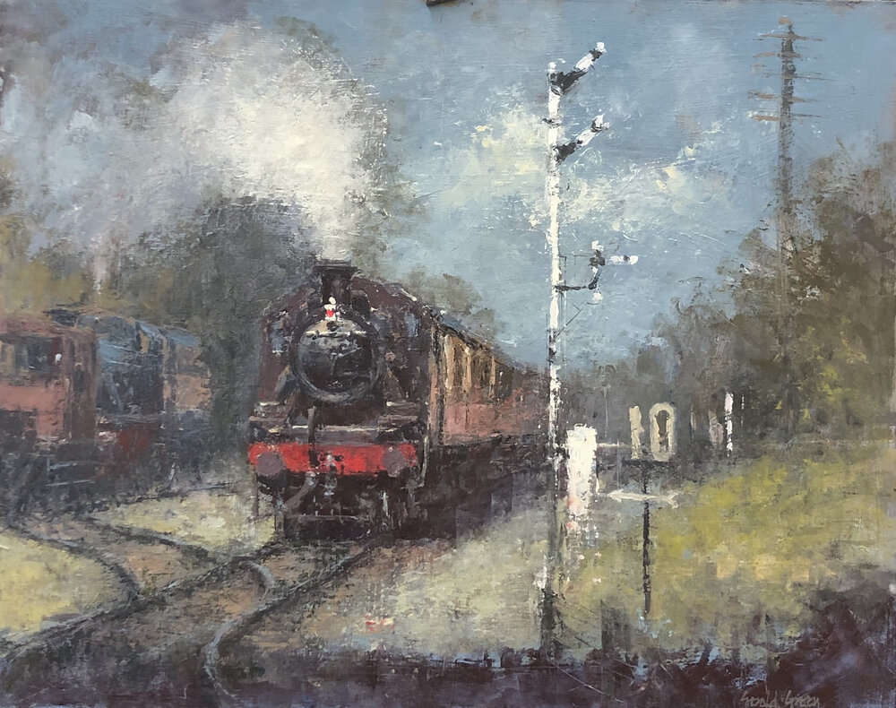Approaching Quorn: 16 x 20 in: oil: £1550