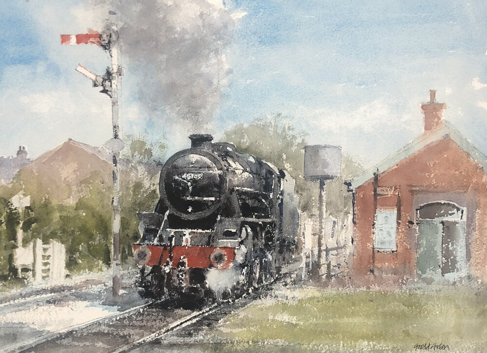 46305 Backing up to Take on Water Loughborough: 13.5 x 19 in: watercolour: £850