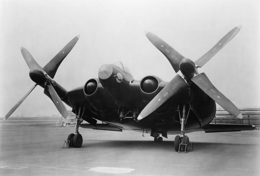 Vought XF5U-1 correspondant à une version militarisée pour l'US NAVY du V-173.