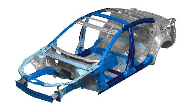 Carrosserie monocoque d'un véhicule moderne
