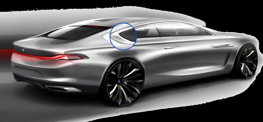 Dessin d'esquisse du concept BMW Gran Coupé.