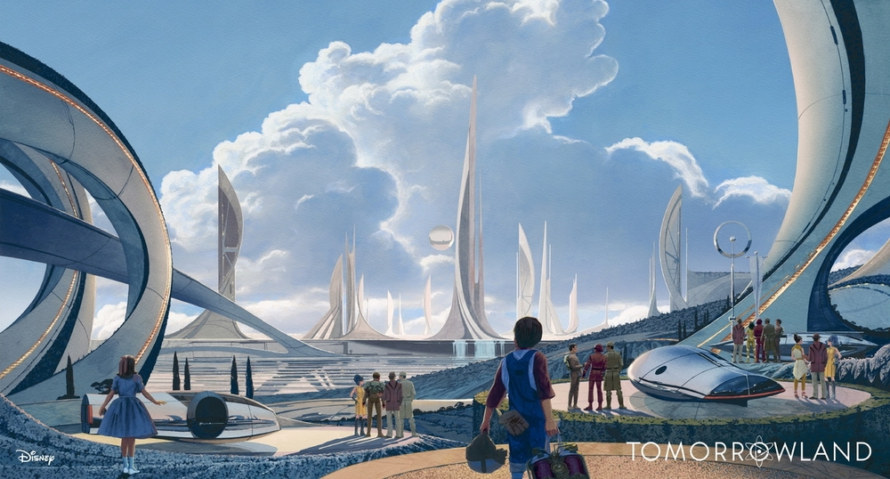 Esquisse développée pour le film Tomorrowland, produit par Disney et dont la date de sortie est prévue pour le printemps 2015.