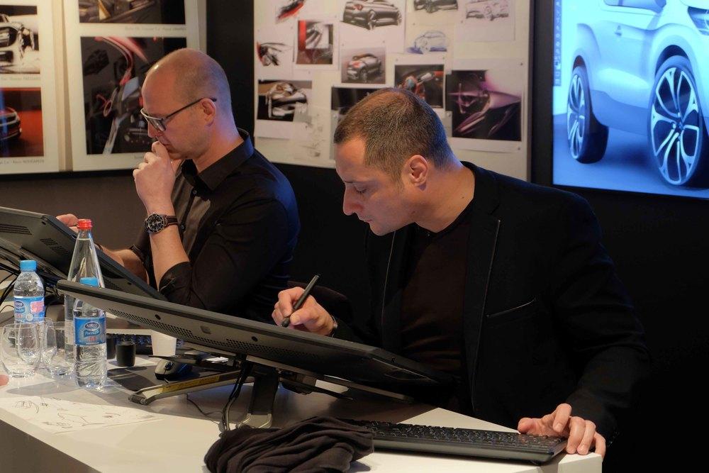 Christopher Rudwal et Olivier Vincent au design.