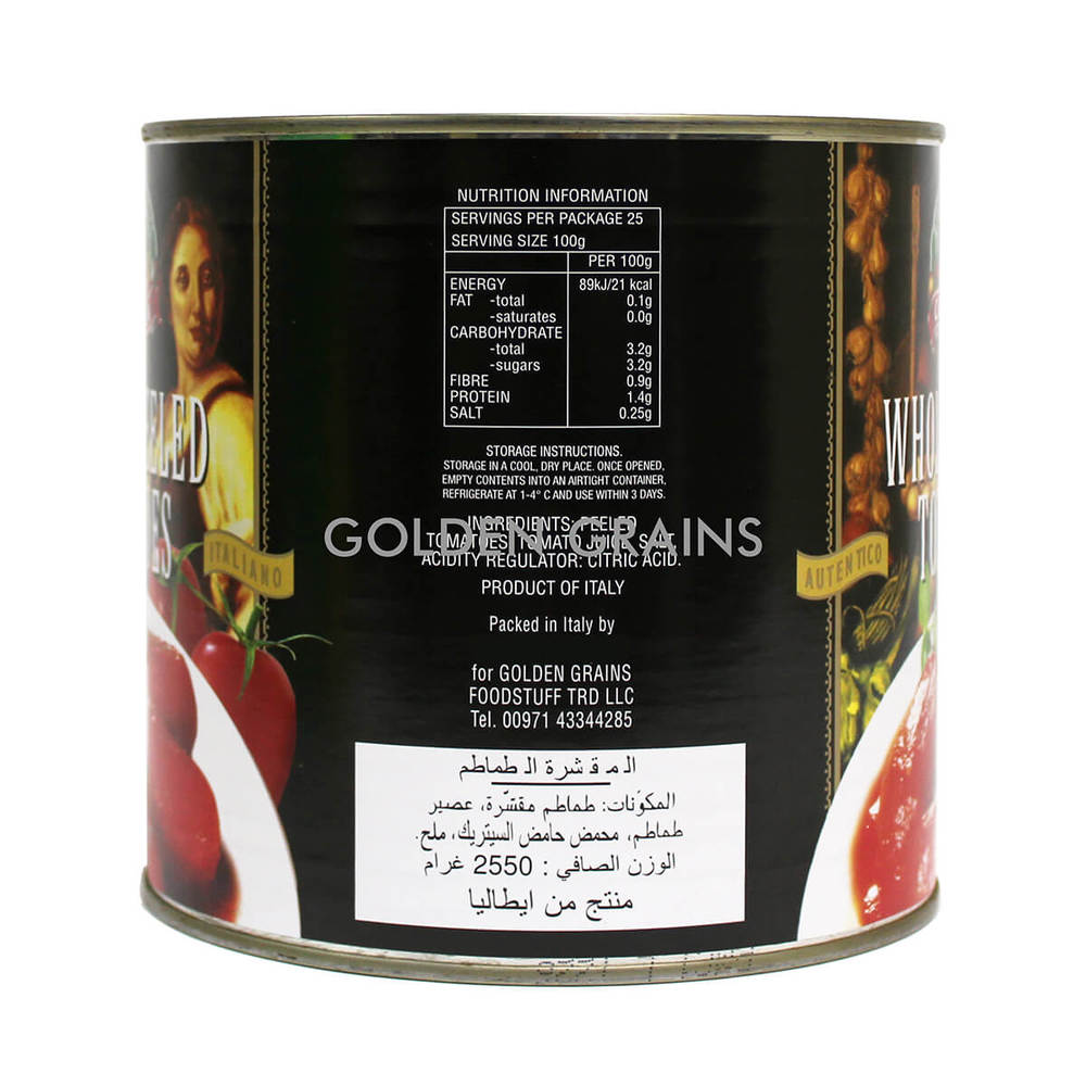 Golden Grains Campagna Whole Peeled Tomatoes - 2550g - Italy - Back.jpg