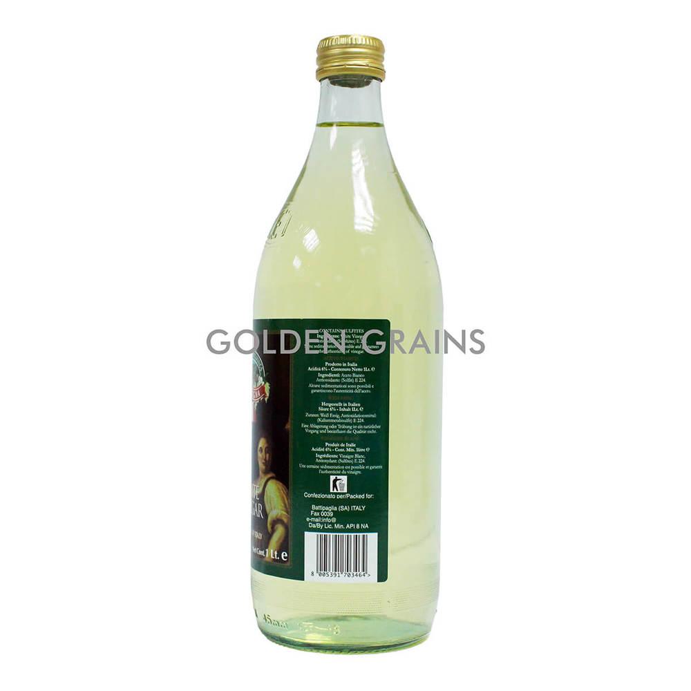 Golden Grains Campagna - White Vinegar - 1 LTR - Italy - Back.jpg