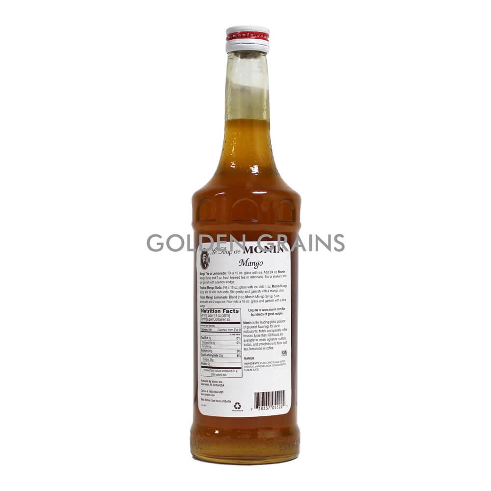 Golden Grains Monin Syrup - Mango - Back.jpg