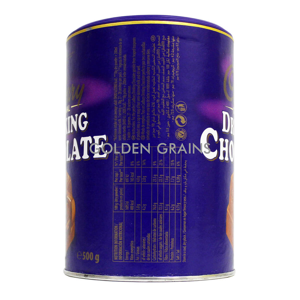 Golden Grains Cadbury - Drinking Chocolate 500G - Back.jpg