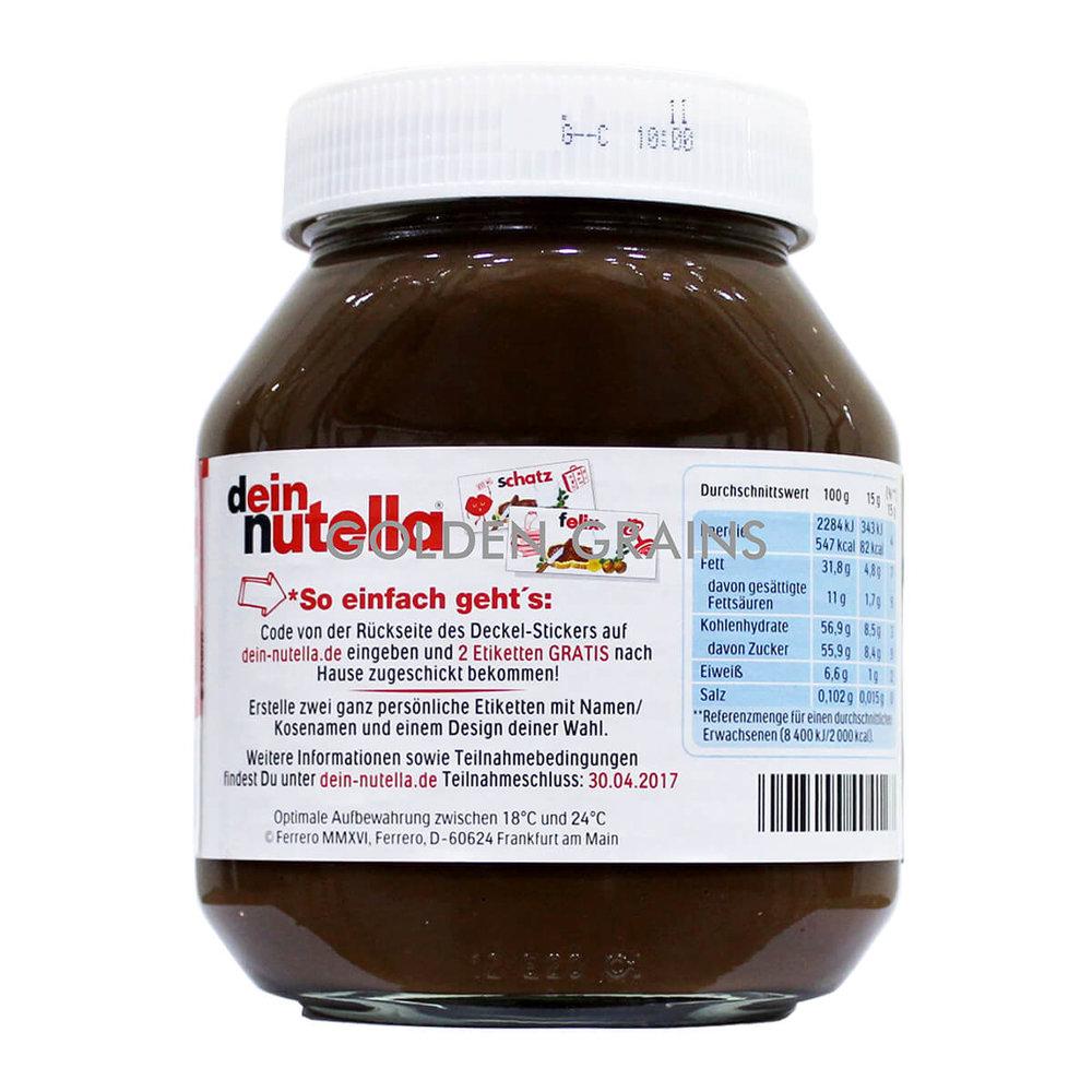 Golden Grains Nutella - Chocolate Spread 750G - Back.jpg