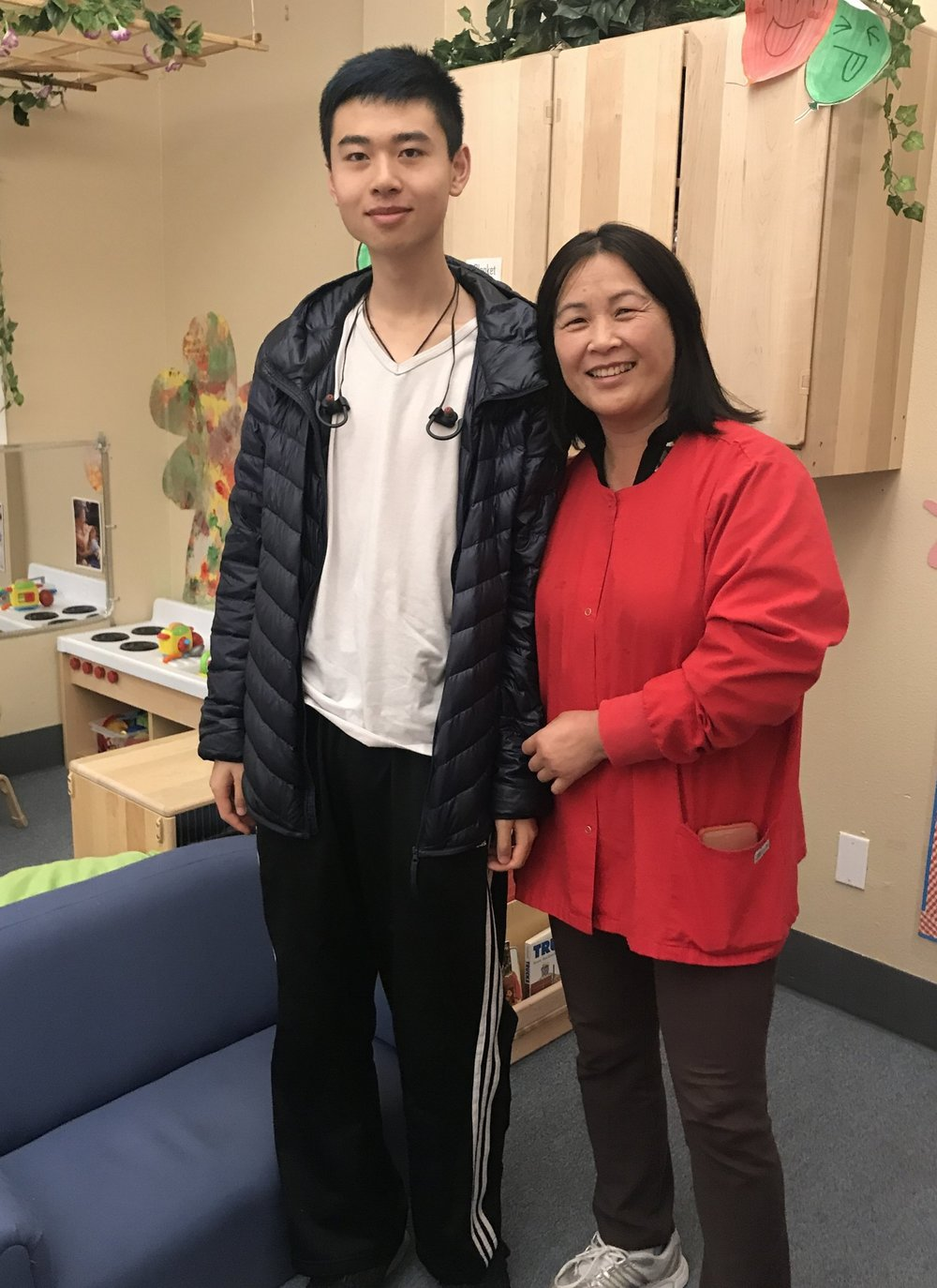 Brian and his former teacher, Sara Yang