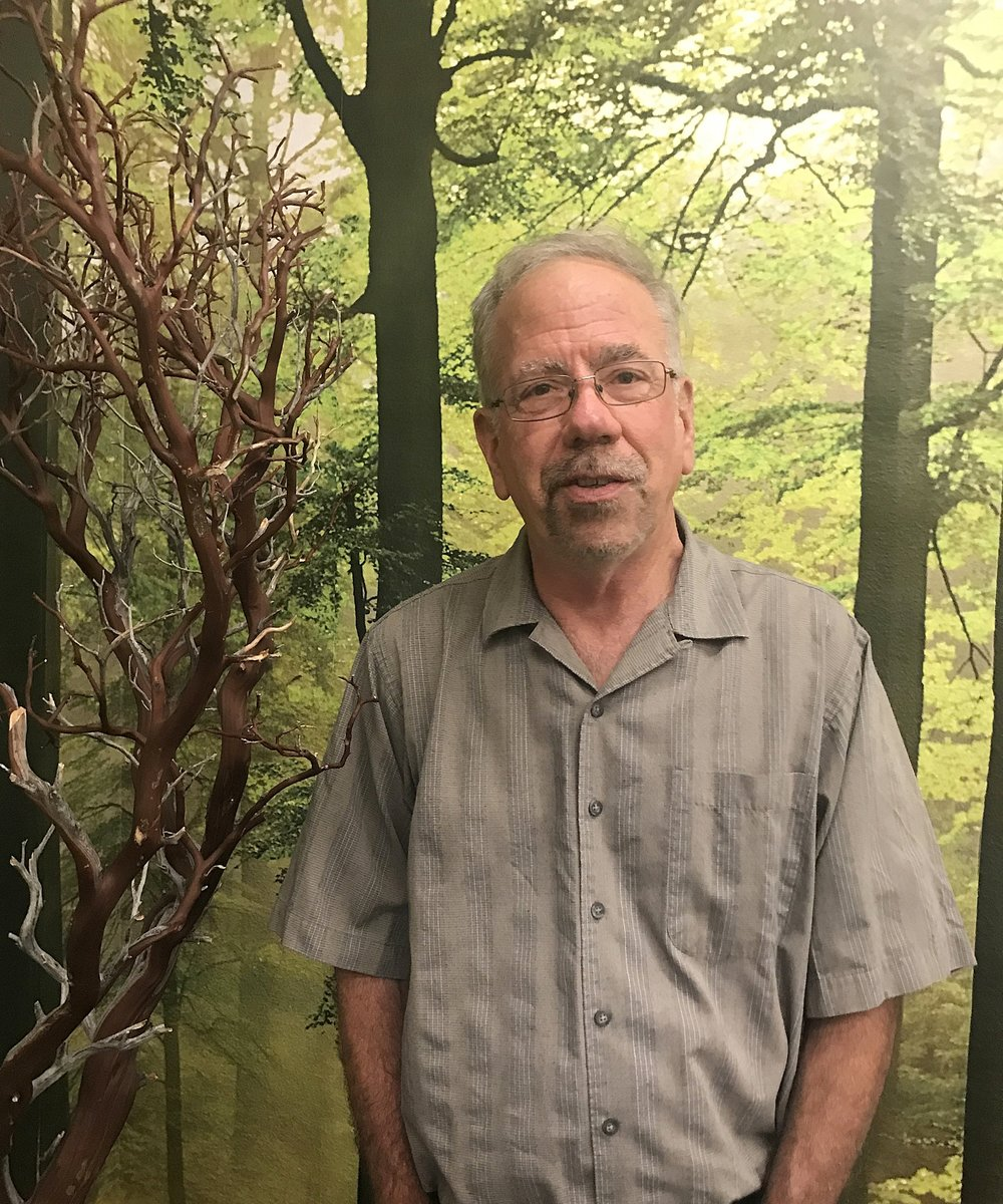 John Gunnarson in the Nature Room at Little Sprouts Child Development Center