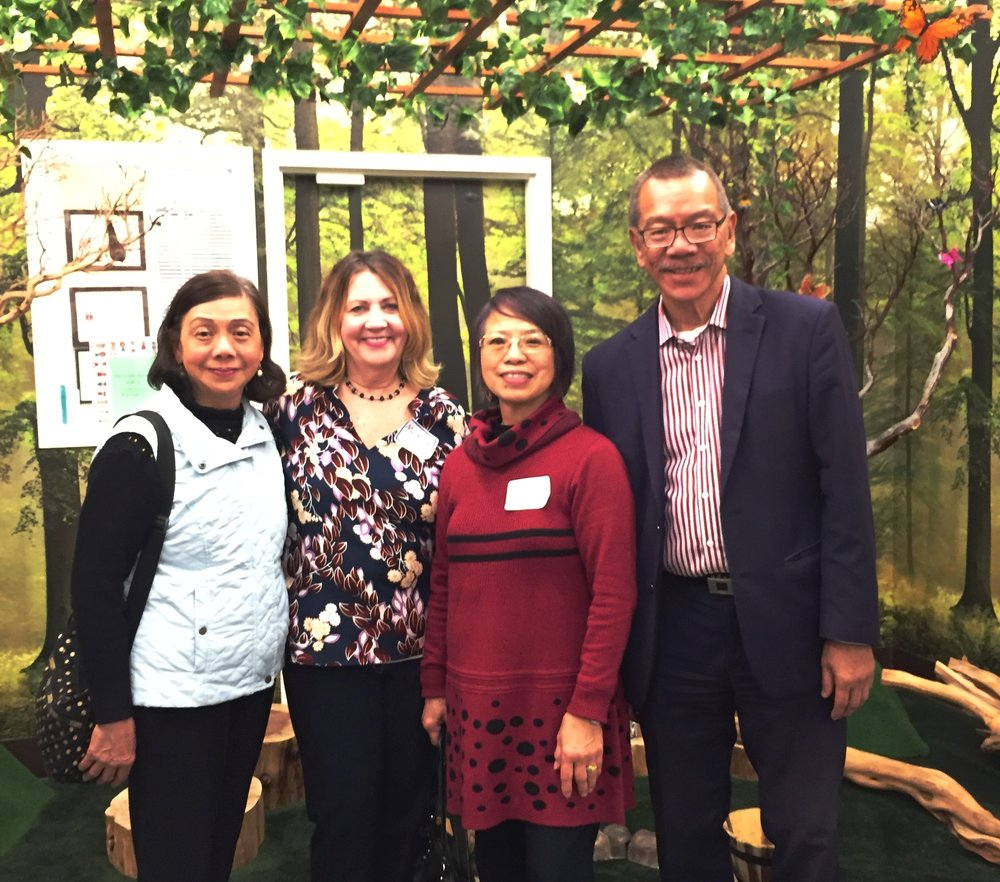 Supervisor Norman Yee with founders Alice Lau (left) Catherine Ko (right), and Wu Yee CEO Monica Walters