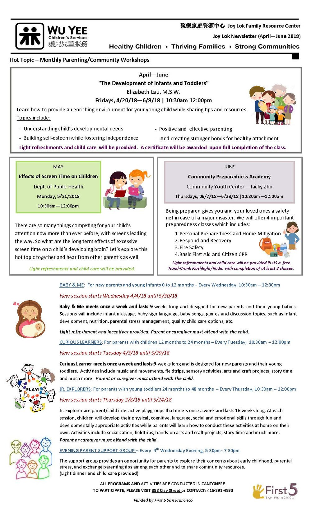 Joy Lok Frc Newsletter April June 2018 Wu Yee Children S Services