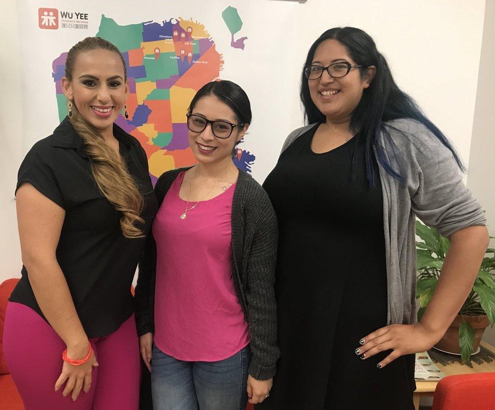 Dolores Leon, Liz Garcia, and Stephanie Rivera