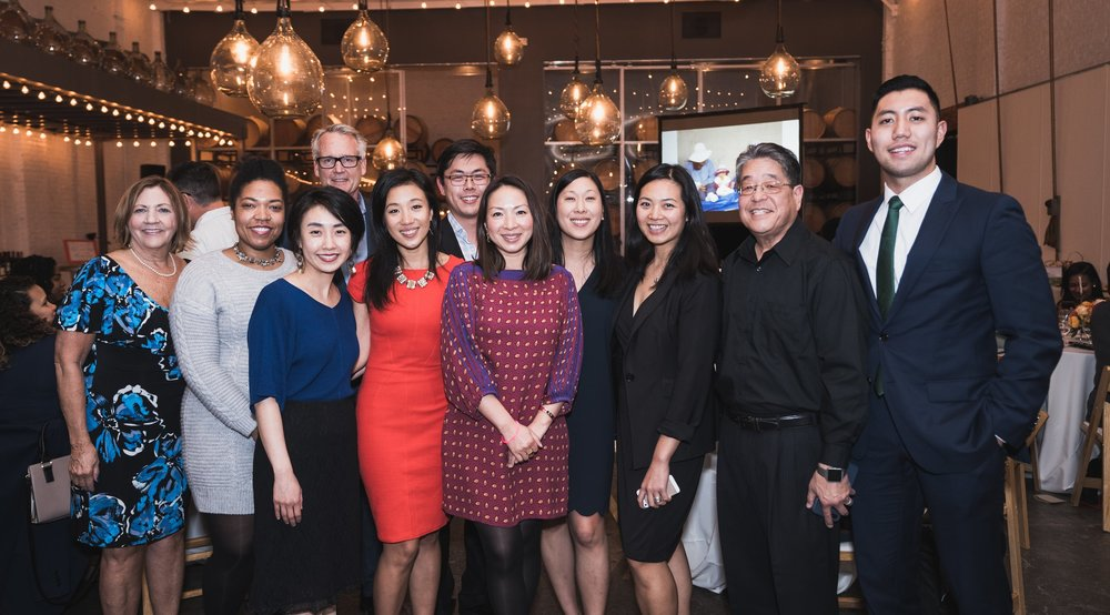 Wu Yee's CEO and Board of Directors at the 2018 Wine & Dine Benefit at Bluxome Street Winery