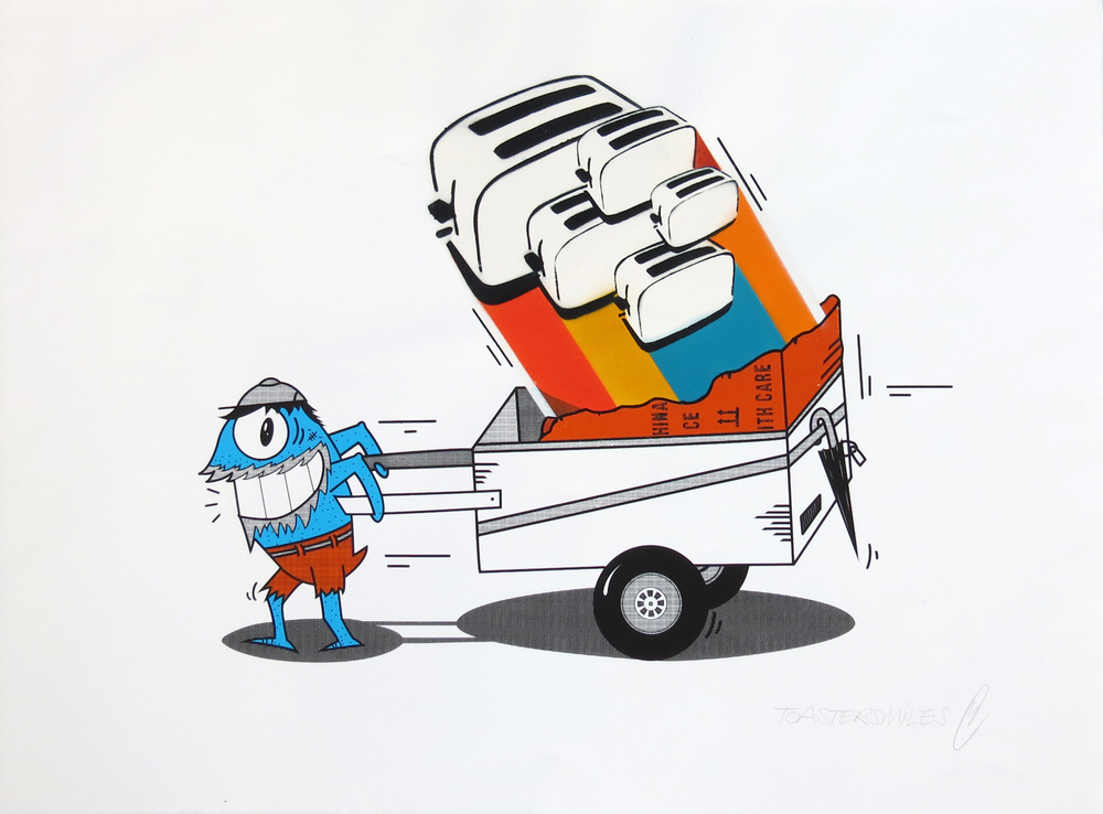 pez and toaster_streetlover_hand-painted mixed media on 3 colour screenprint on Somerset satin 300gsm_£450.jpg