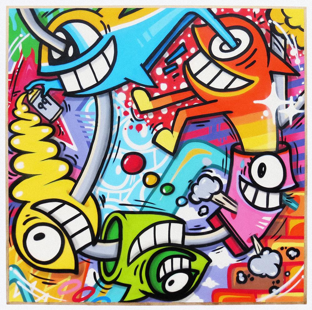pez_city of happiness_spraypaint on canvas_161 x 161x 4 cm_£4000.jpg