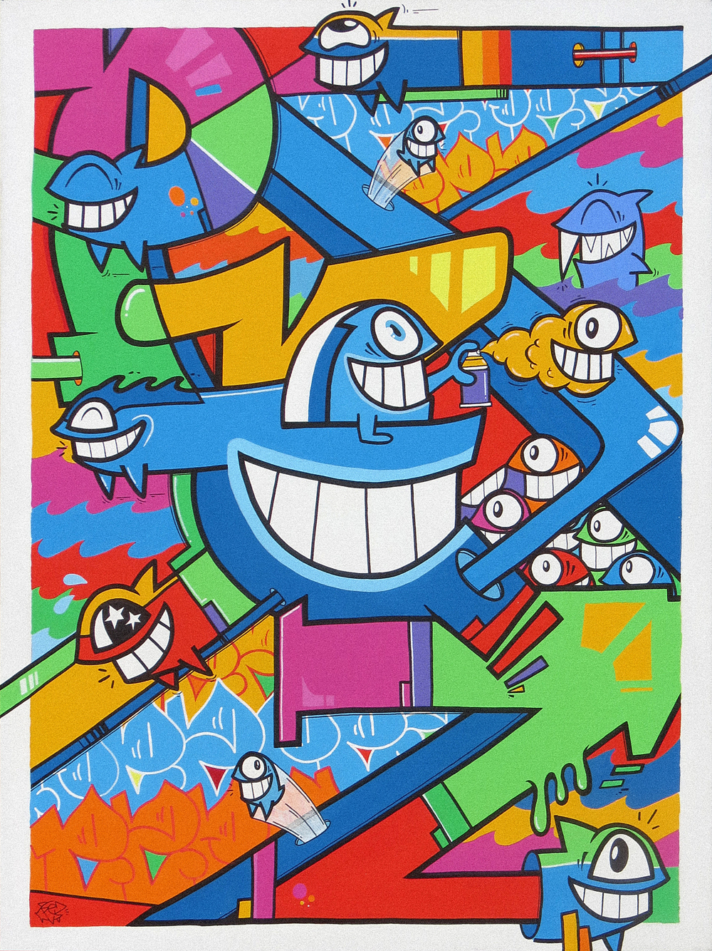 pez_pez in london 2014_acrylics and markers on canvas_100 x 140x5cm_£2500.jpg