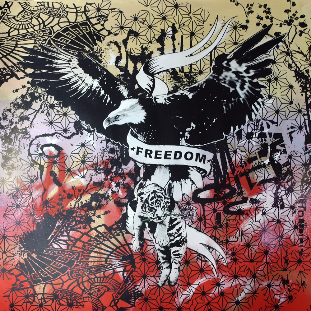 'Freedom 6'1of1screenprint, 80x80cm Not for Catalogue 023.JPG