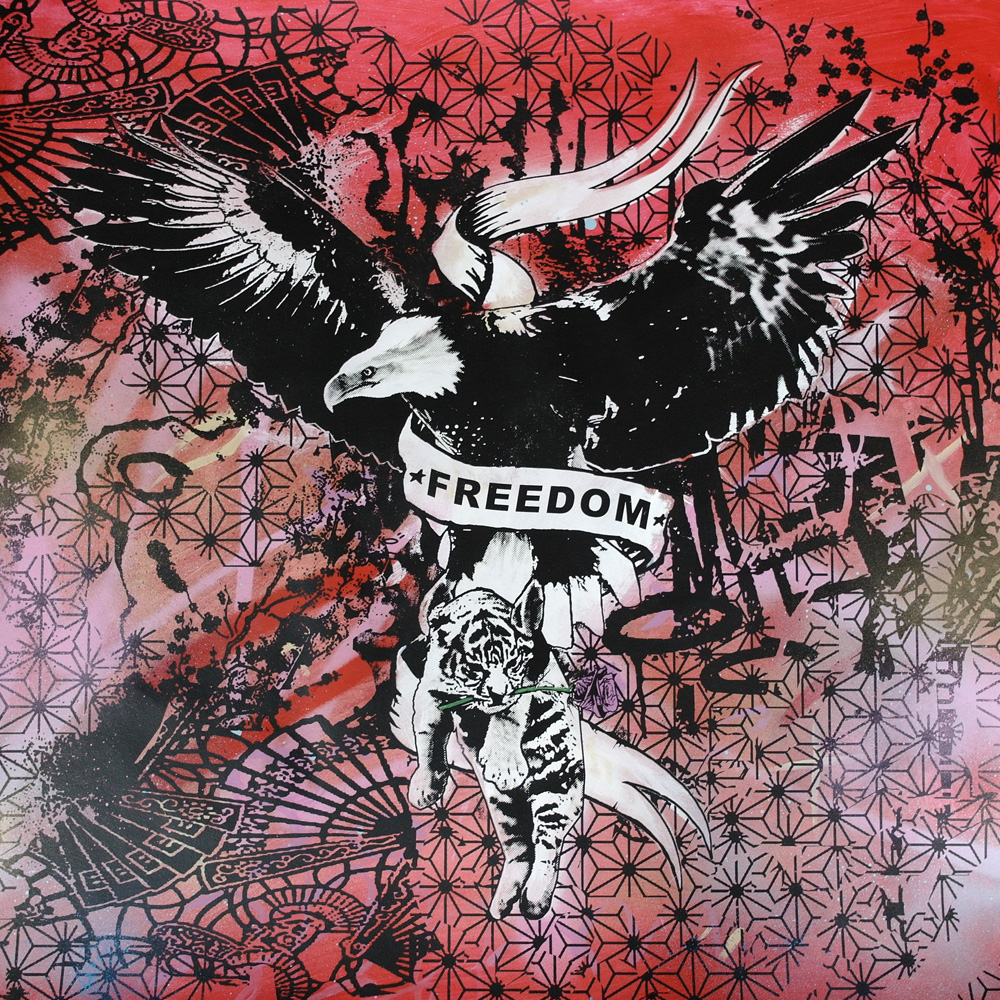 'Freedom 3'1of1screenprint, 80x80cm £350 unframed SOLD 021.JPG