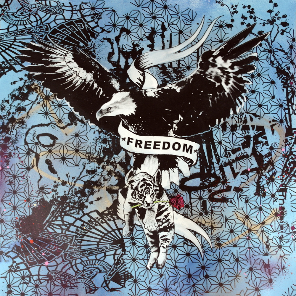 'Freedom 2'1of1screenprint, 80x80cm Not for Catalogue 043.JPG