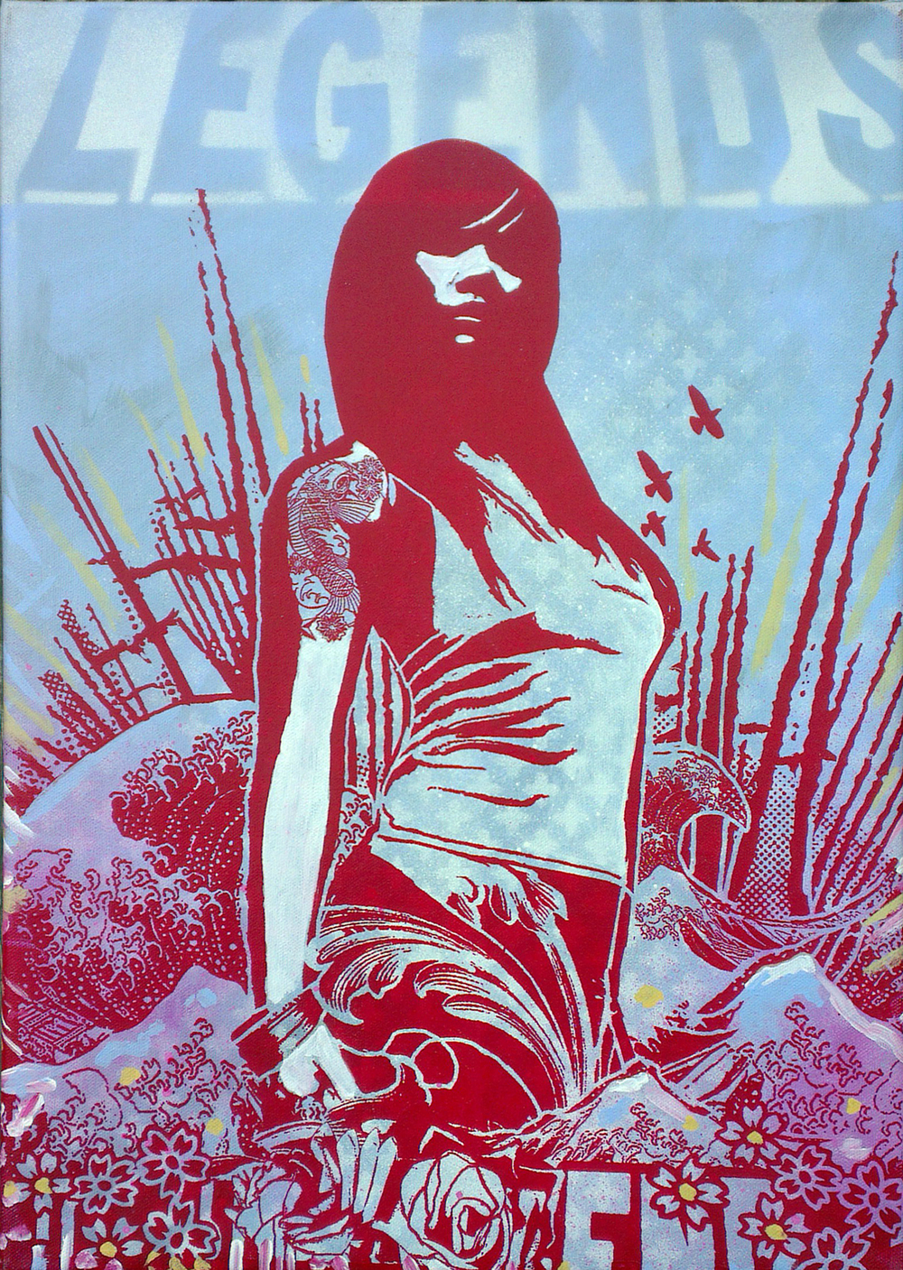 'Amphitrite'no3, acrylic and spray paint on canvas, 35x50cm £450 Not for Catalogue 004.jpg