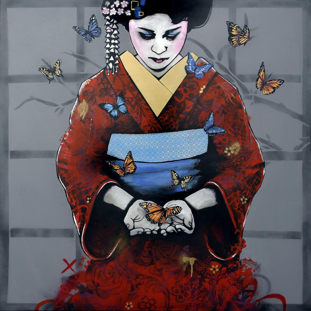 'Wake From Death, Return To Life' Spray paint and acrylic on canvas 120 x 120 cm £2700 009.JPG
