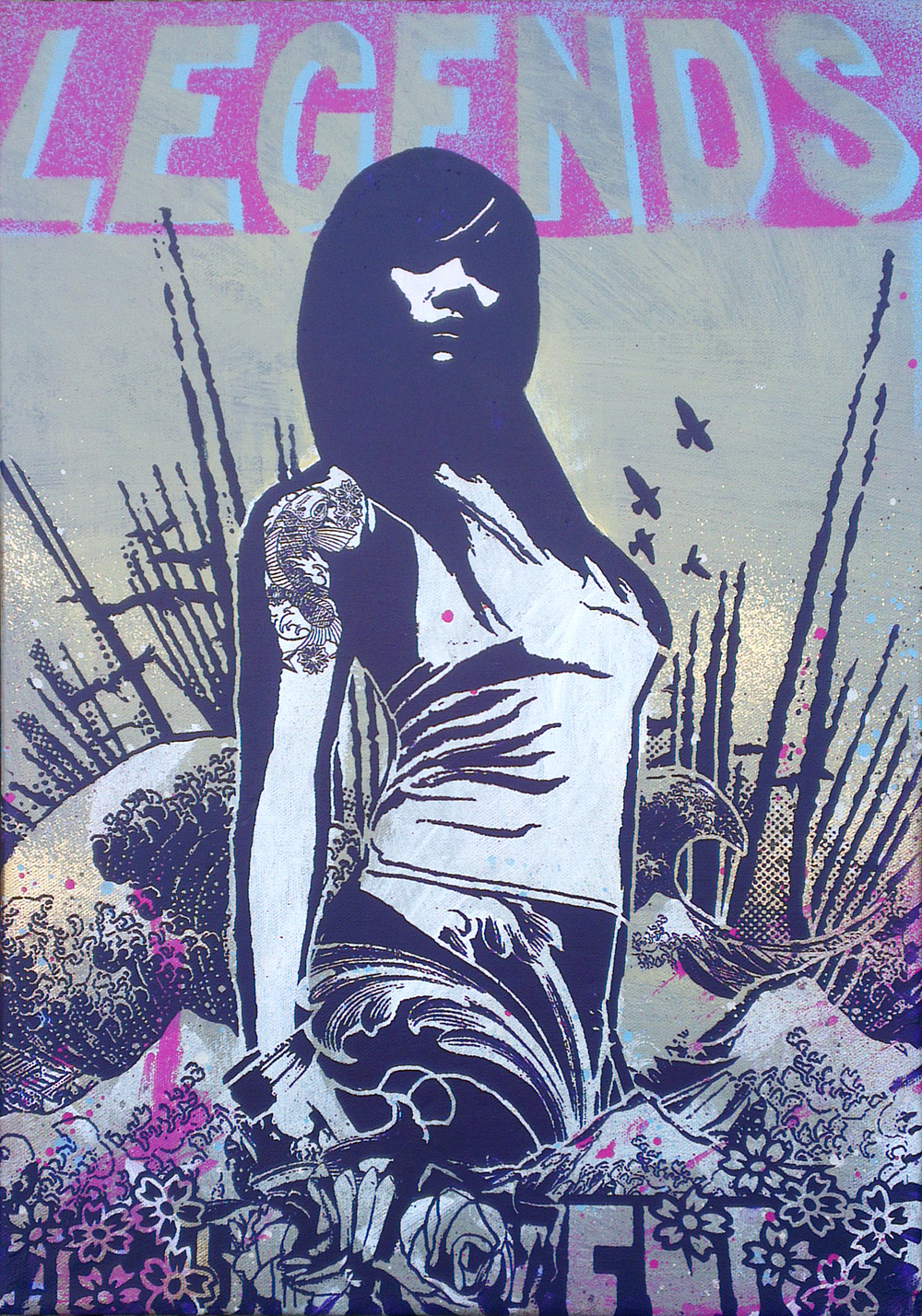 'Amphitrite'no1, acrylic and spray paint on canvas, 35x50cm £450 Not for Catalogue 002.jpg