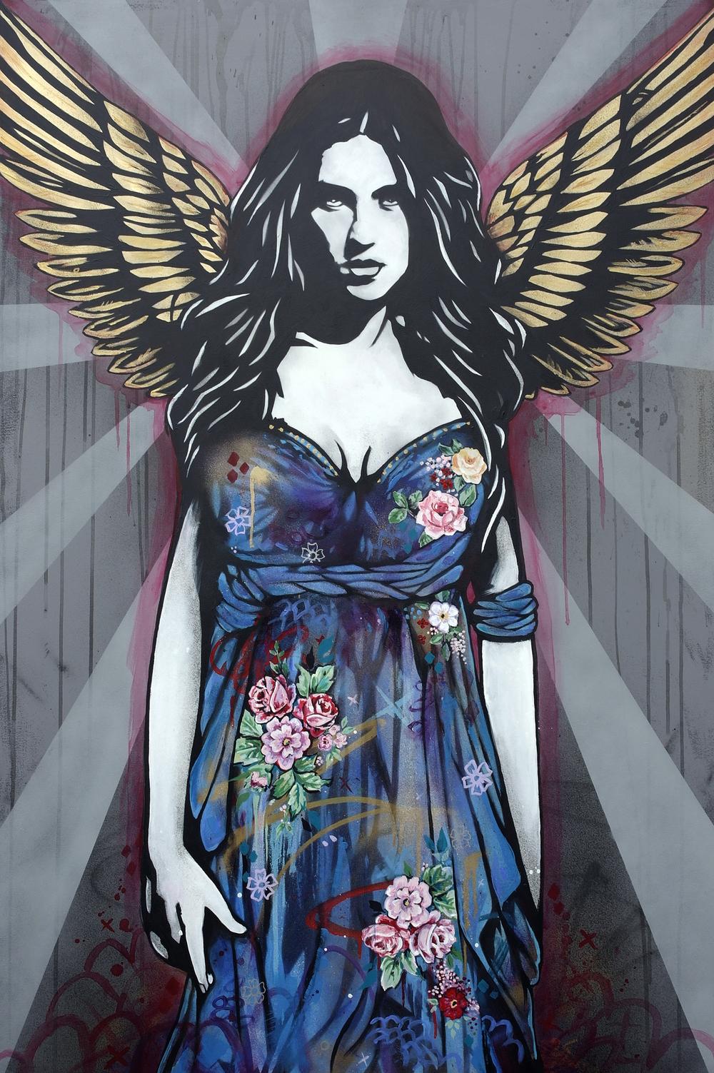Gabriel Acrylic and Spray paint on canvas,  100 x 150 cm, £3300 006.JPG