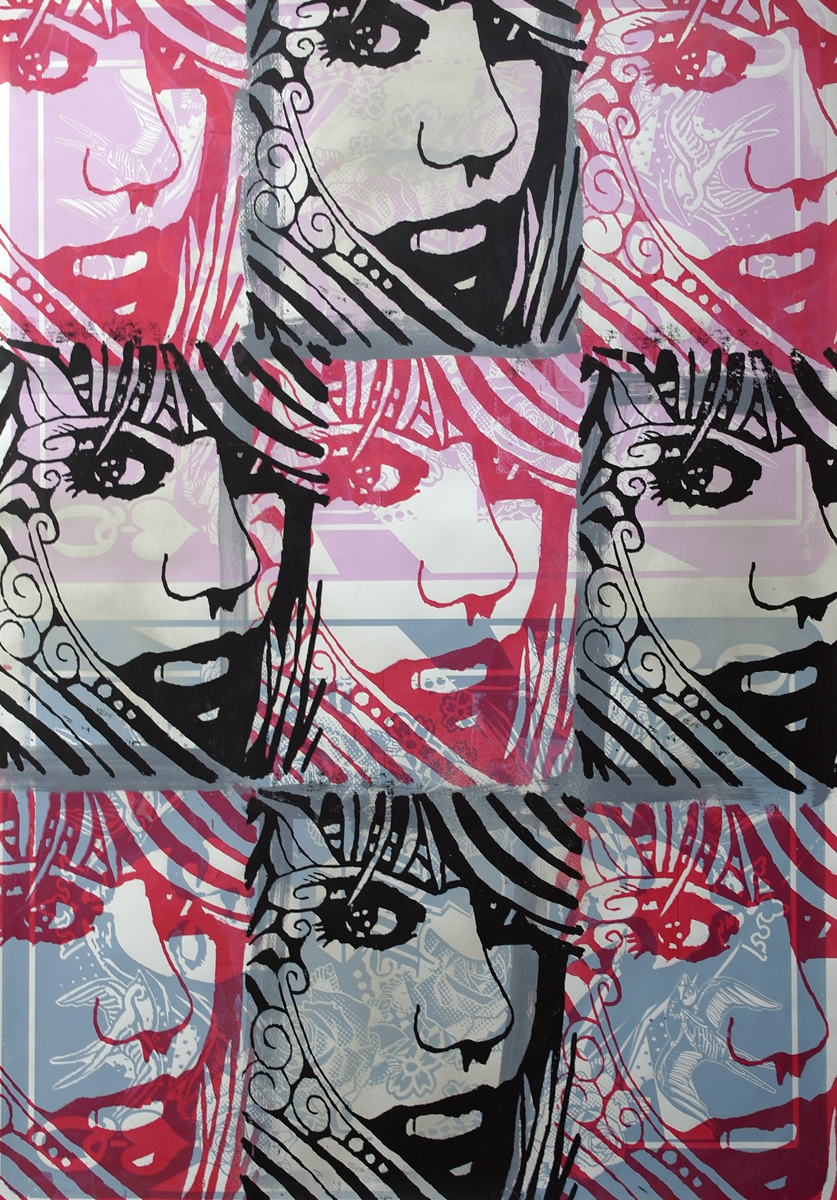 Mashup2, Unique Work, 70x100cm, Acrylic on paper, Framed £600 019.JPG
