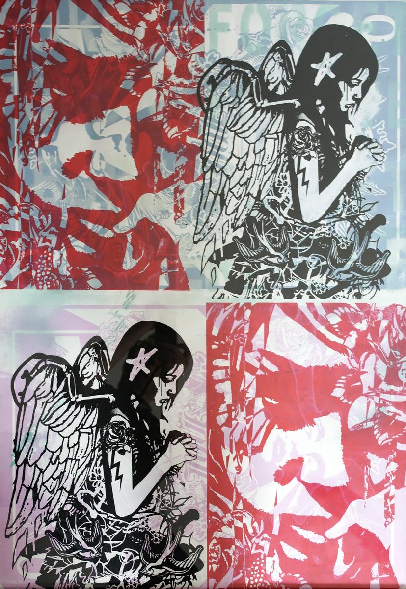 Mashup1, Unique Work, 70x100cm, Acrylic on paper, Framed £600 018.JPG