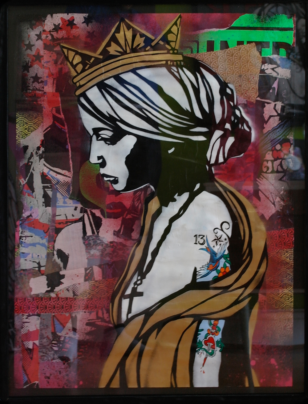 'Daughter of Creon', Origional Work, spray paint and acrylic on paper, £550 (framed) 010.jpg