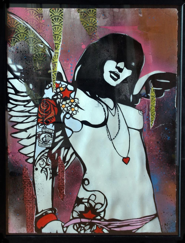 'Star', Origional Work, spray paint and acrylic on paper, £550 (framed) 041.jpg