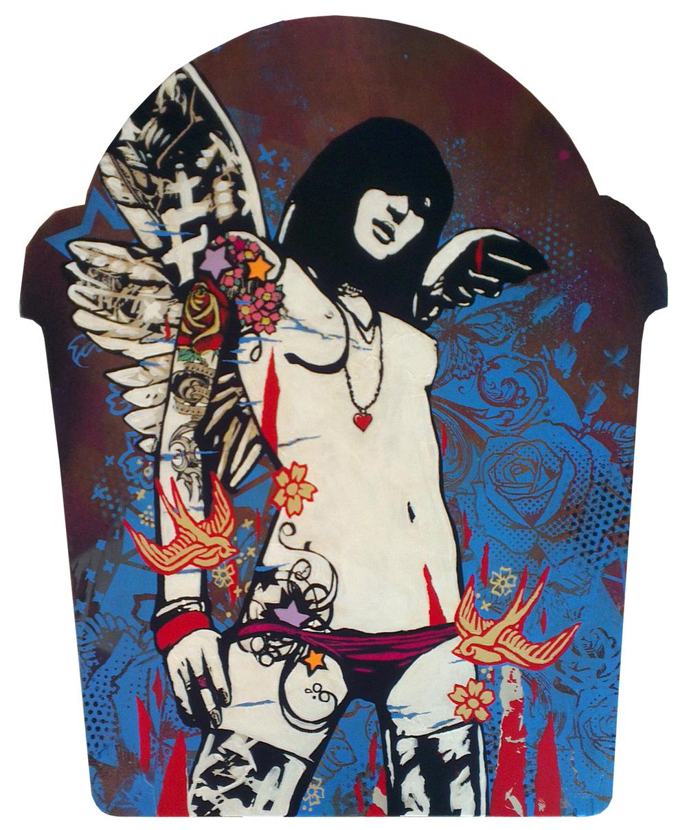 Untitled, Acrylic on Wood, 55 x 60cm, £550.00 SOLD 036.jpg