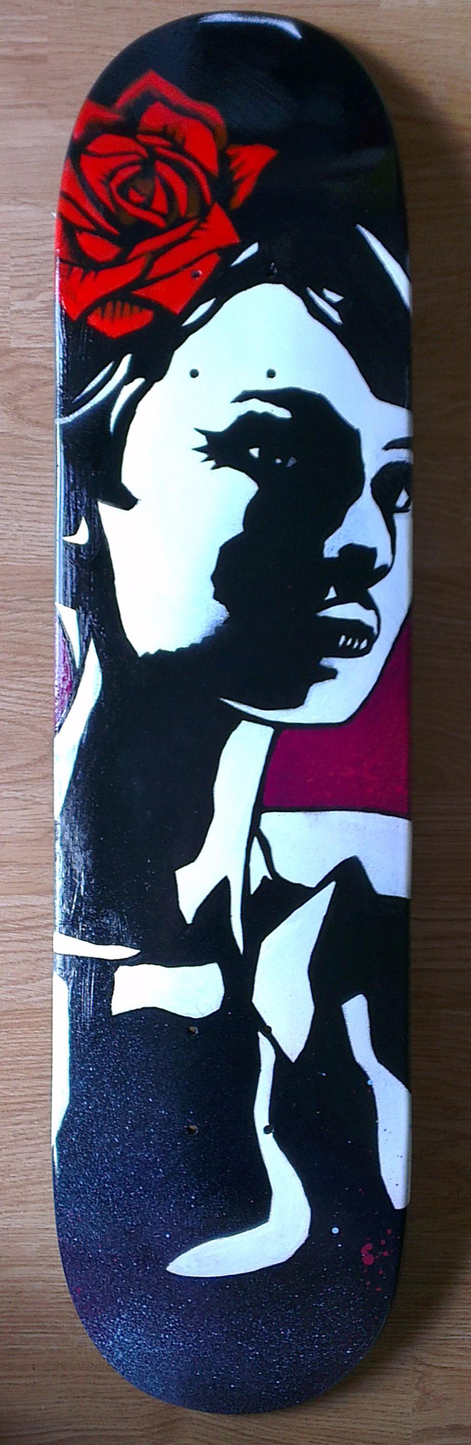 Princess Deck, Original Painting on Wooden Skateboard,£400 032.jpg