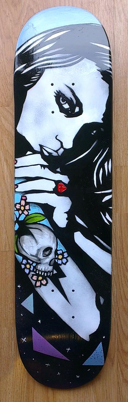 Untitled, Original painting on wooden skateboard, £400.00 038.jpg