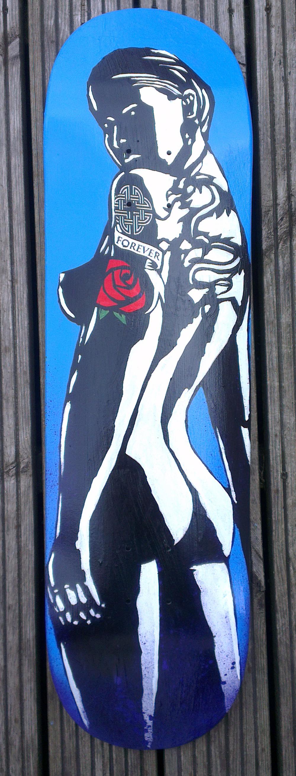 Untitled, Original painting on wooden skateboard, £300 037.jpg
