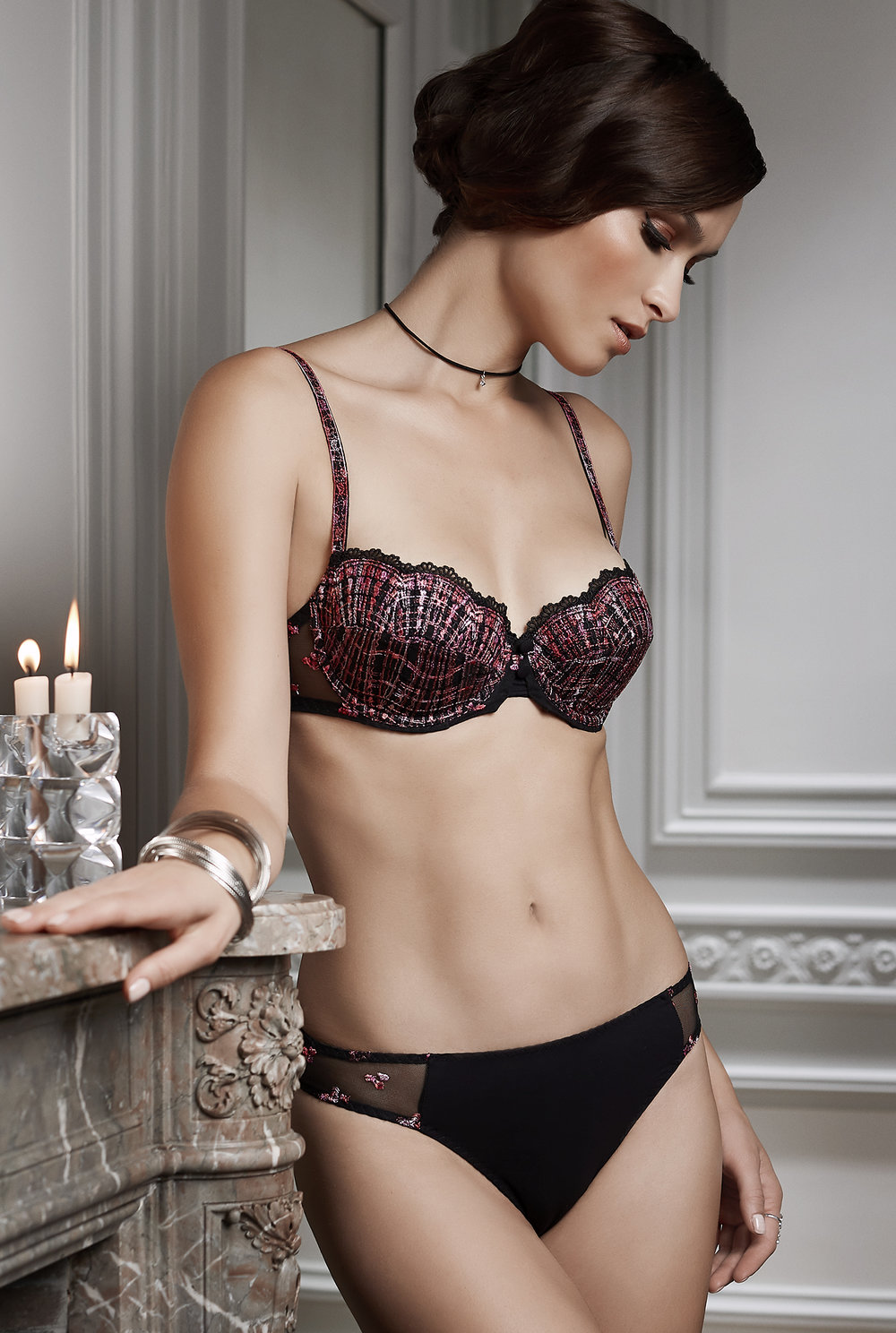 Joli Môme horizontal-cut amplimousse, sizes 85 to 95 a, b, c, d : $93     String, sizes 36 to 46: $43