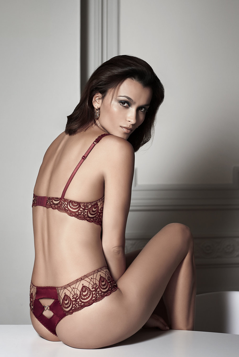 Ode à l'Amour    classic balconnet, sizes 85 to 95 b, c : $74       Shorty string, sizes 36 to 46 : $61