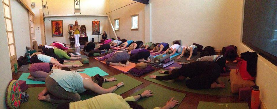 Singing for Dr. Saraswati Markus' yoga class at  Nourishing Life  in Asheville, NC