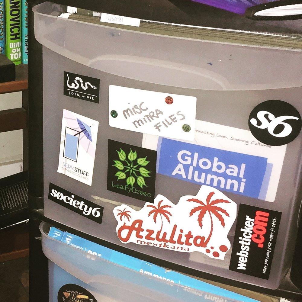 My Global Alumni Sticker on file cabnet