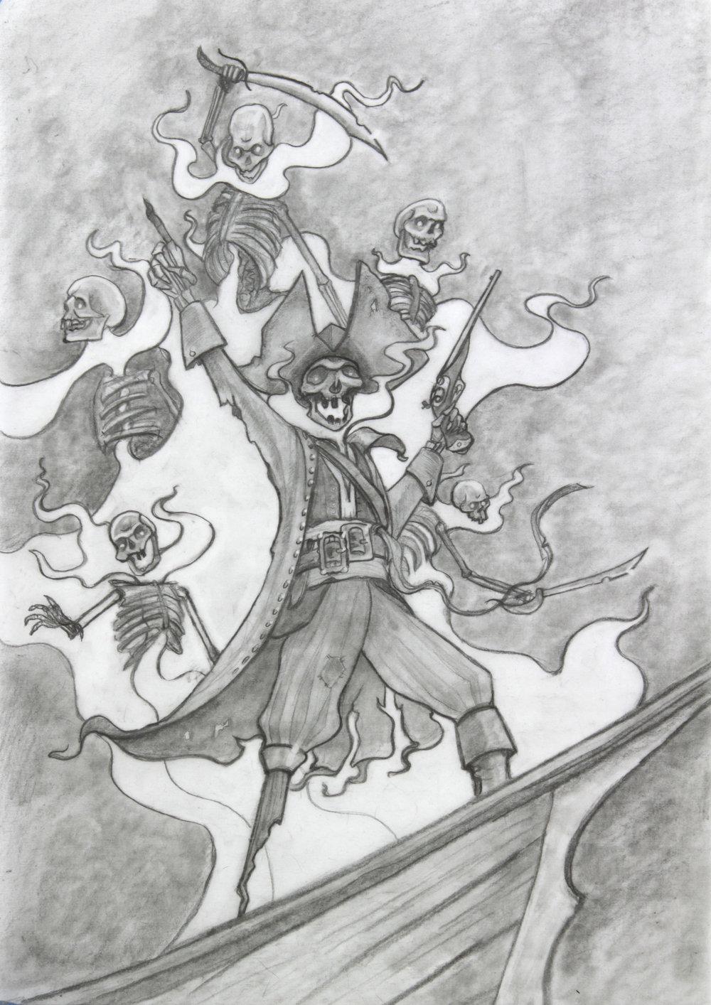 Original drawing for Captain Blackfinger