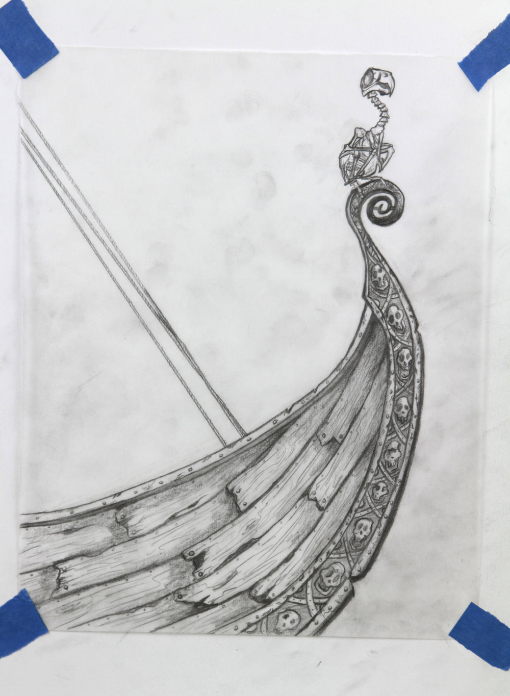 Second drawing for the ship