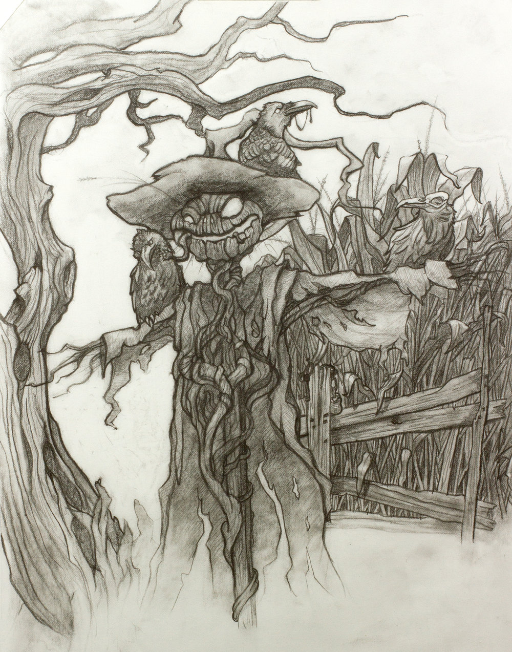 Original drawing for Field of Screams