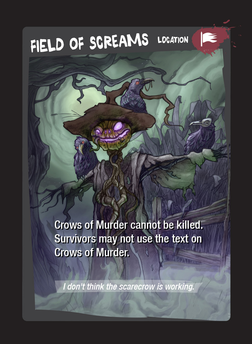 Field of Screams card from Bullets and Teeth