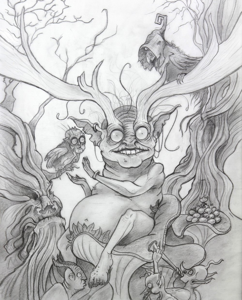 Original drawing for the Faerie King